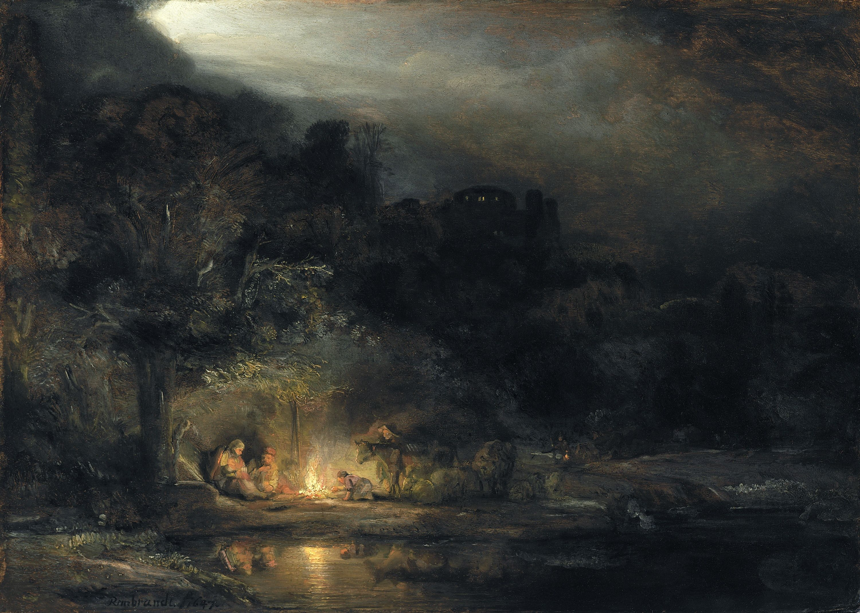 Rembrandt van Rijn, Landscape with the Rest on the Flight into Egypt